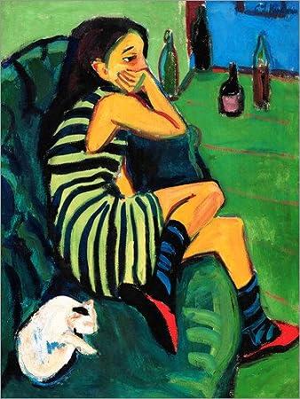Posterlounge Alubild 60 x 80 cm Marcella von Ernst Ludwig Kirchner Artistin