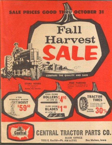 - General Tractor Parts Sale circular Des Moines IA 1962