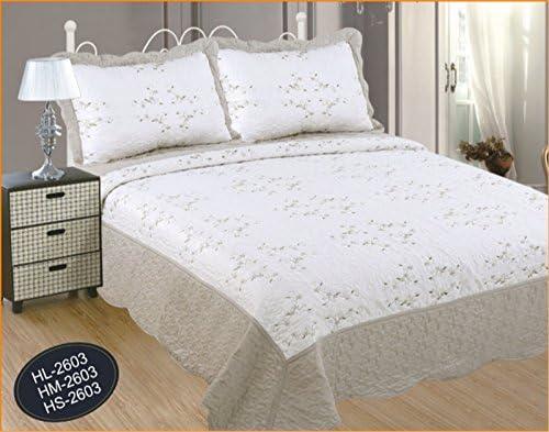 ForenTex Colcha Boutí Cosida y Bordada, (HS 2603), cama 90