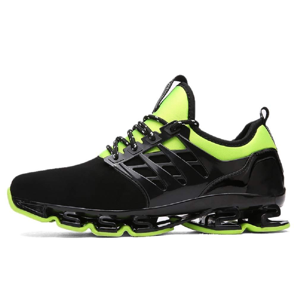 Green 6 UK FUSHITON Running Shoes Men-Mens Womens Trainers Cross Training Trail Sport Sneakers for Women Walking Shoe Blade Breathable