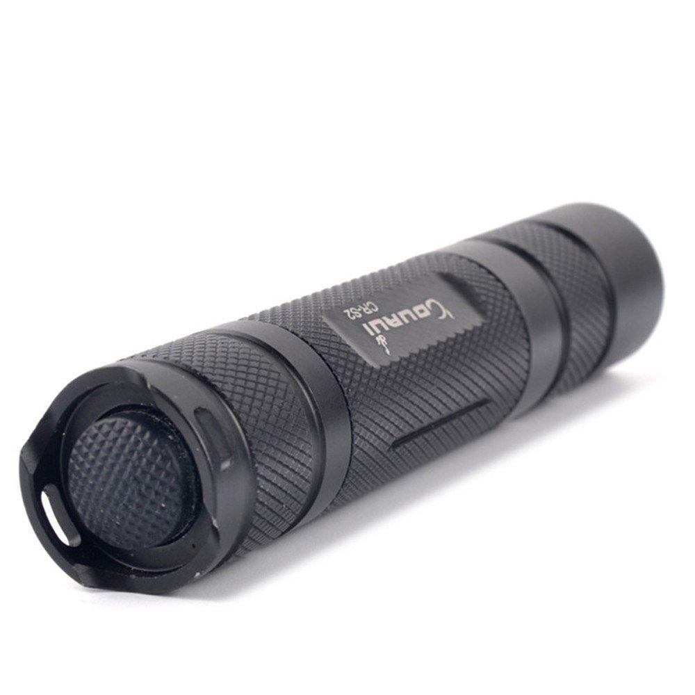 Dreamyth COURUI XP-L HI V3 LED Aluminum Alloy Waterproof Pocket Flashlight Torch (Black)
