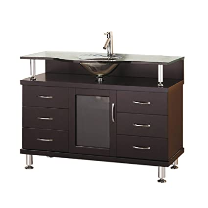 Virtu USA MSGES Vincente Inch Single Sink Bathroom Vanity - Bathroom vanities 48 inch single sink