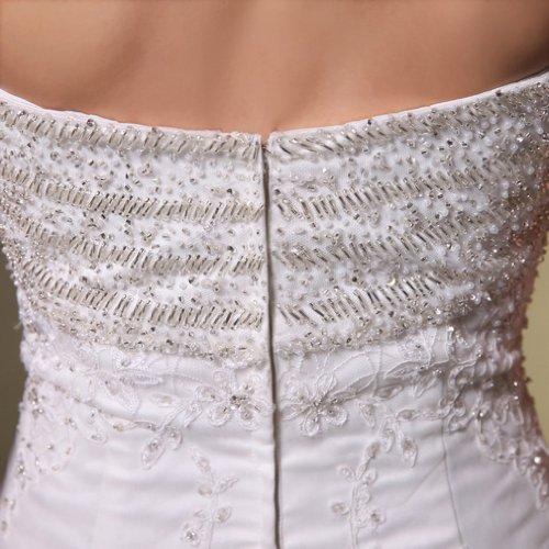 Etui Perlenstickerei Mit Herz Linie Damen Kleidungen Ausschnitt Brautkleider Applikation Hof Schleppe Weiß Dearta Tuell qUaEAwn44