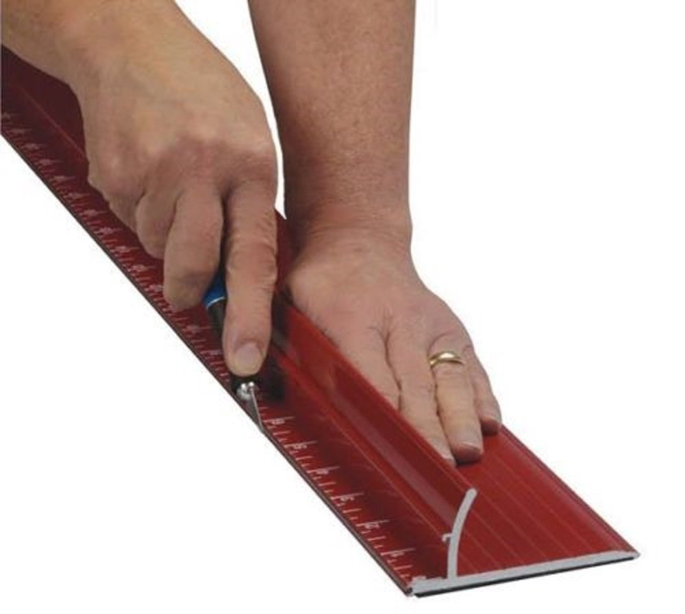 New 52'' Non-skid Rhino Steel Edge Safety Ruler for Straight & Safe Cut, heavy duty from SpeedPress