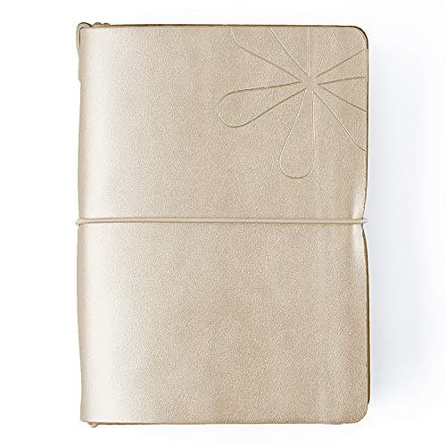 Leather Erin (Erin Condren On The Go Folio Champagne for PetitePlanners & Petite Journals)