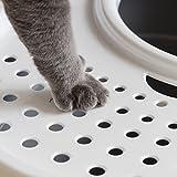 IRIS USA Top Entry Cat Litter Box with Cat Litter