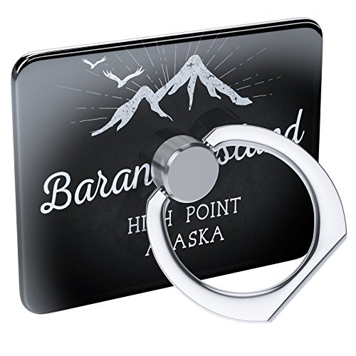 Cell Phone Ring Holder Mountains chalkboard Baranof Island High Point - Alaska Collapsible Grip & Stand Neonblond Baranof Island