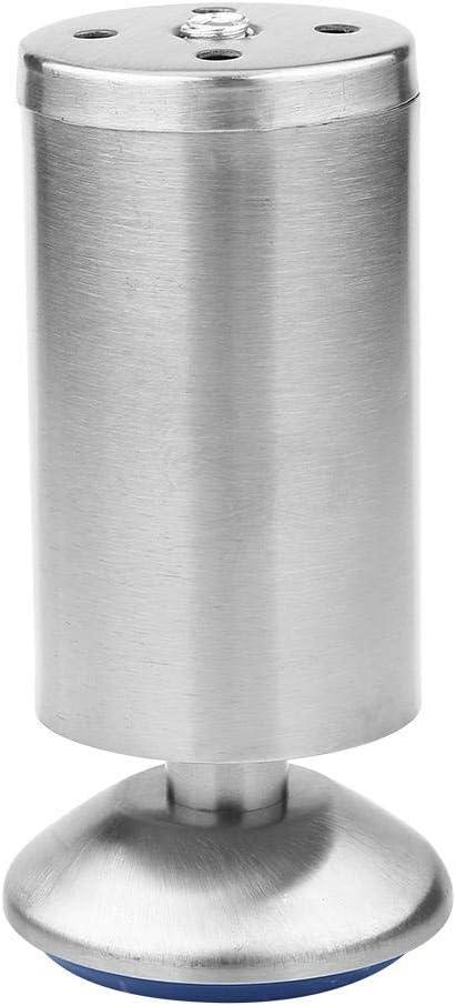 Samfox Piedini per Mobile 50 60mm Piedini per Tavolo in Acciaio Inossidabile Piedini per Divano Regolabili per Mobili Piedini 4 Pezzi 50 * 60MM