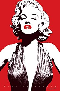 Marilyn Monroe-Red, Movie Poster Print, 24 by 36-Inch
