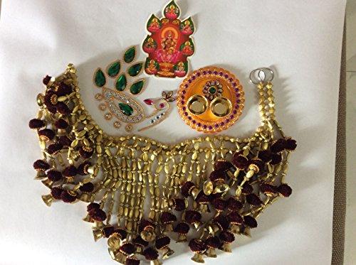 Diwali/Christmas Gift Hamper, Toran/door valance, beautiful rangoli, Pooja/worship Thali and Goddess Laxmi Sticker