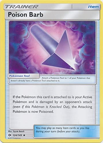 Pokemon Sun /& Moon TCG Card 124//149 Poison Barb
