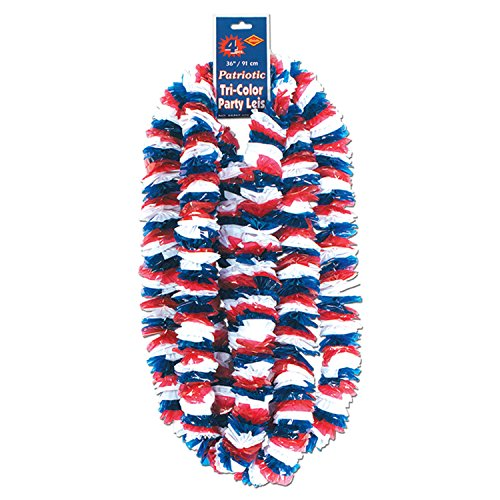 [Soft-Twist Patriotic Poly Leis Case Pack 400] (Twist Pack)