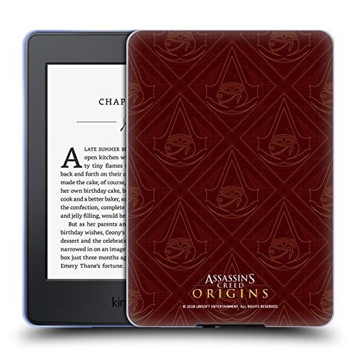Official Assassin's Creed Maroon Crest Origins Patterns Soft Gel Case Compatible for Kindle Paperwhite 1/2 / 3 (Case Paperwhite Kindle Maroon)