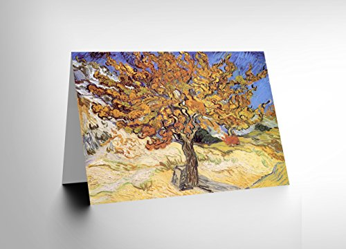 NEW VINCENT VAN GOGH MULBERRY TREE 1889 OLD MASTER BLANK GREETINGS CARD ()