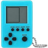 Taşınabilir Mini Tetris Nostaljik Oyun Konsolu Anahtarlık El Oyun Konsolu Turkuaz