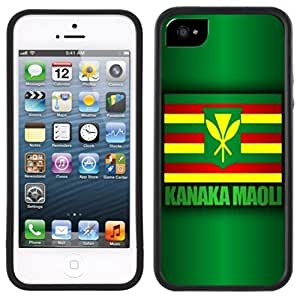 Kanaka Maoli Flag Hawaii Hawaiian Handmade iPhone 5C Black Case by Maris's Diary