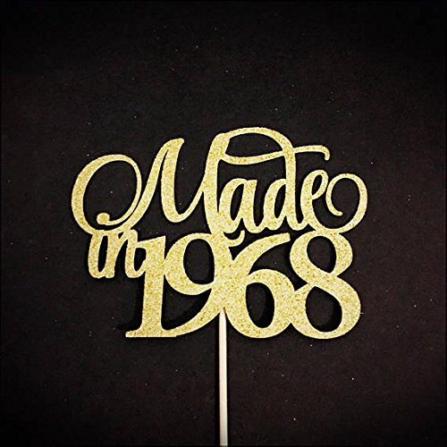 Made In 1968 Cake Topper, Birthday Cake Topper, Birth Year Cake Topper, 50th Birthday Cake Topper, Fifty Cake Topper, 50 Cake Topper