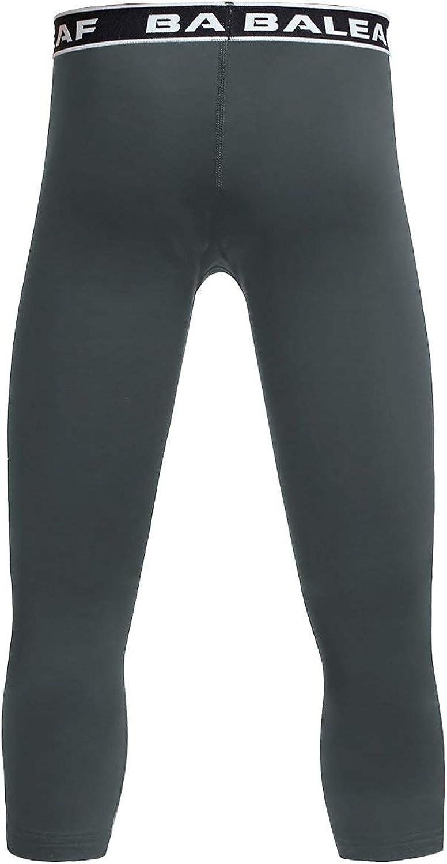 Baleaf Youth Boys Compression Pants 3//4 Leggings Sports Tights Football Basketball Baselayer