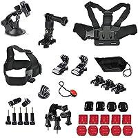 YFY 14-In-1 Basic Outdoor Sports Accessories Kit for GoPro Hero Cameras,SJ Cam, Xiaomi Yi,Sport Acion Camera