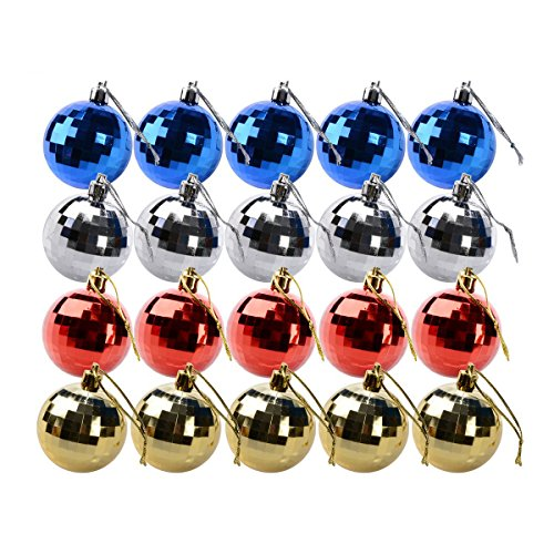 Saim Christmas Hanging Balls Tree Ornaments, 20 Pcs