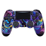 eXtremeRate Bizarre Dream Patterned Front Housing Shell Case, Glossy Faceplate Cover Replacement Kit for Playstation 4 PS4 Slim PS4 Pro CUH-ZCT2 JDM-040/050/055 Controller - Controller NOT Included (Color: Bizarre Dream)