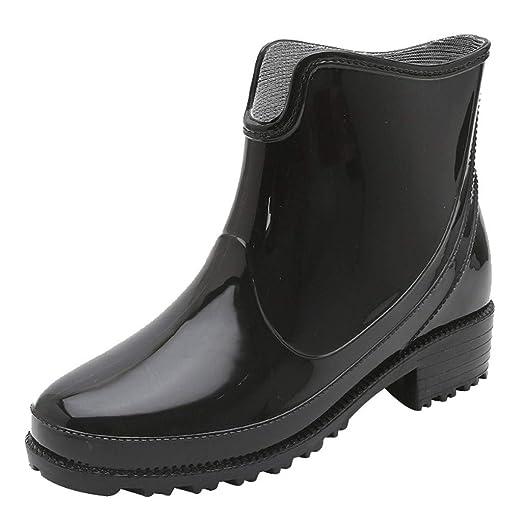 1e257d0fa2dc1 Amazon.com: Goddessvan Punk Style Ankle Short Rain Boots Women Non ...