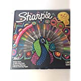 Sharpie Markers Limited Edition Exclusive color Assortment 30 markers, 6 bonus coloring pages