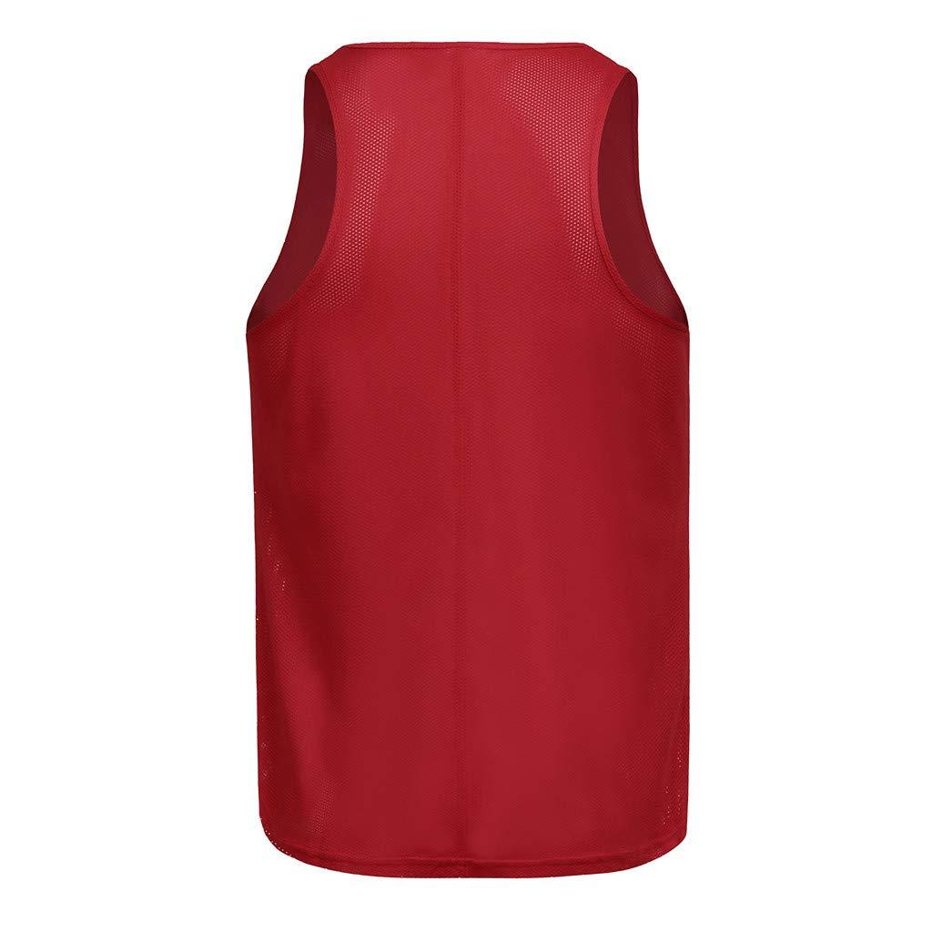 NUWFOR Mens Muscle Sleeveless Tank Top T-Shirt Mesh Breathable Bodybuilding Sport Fitness Vest T-2.21