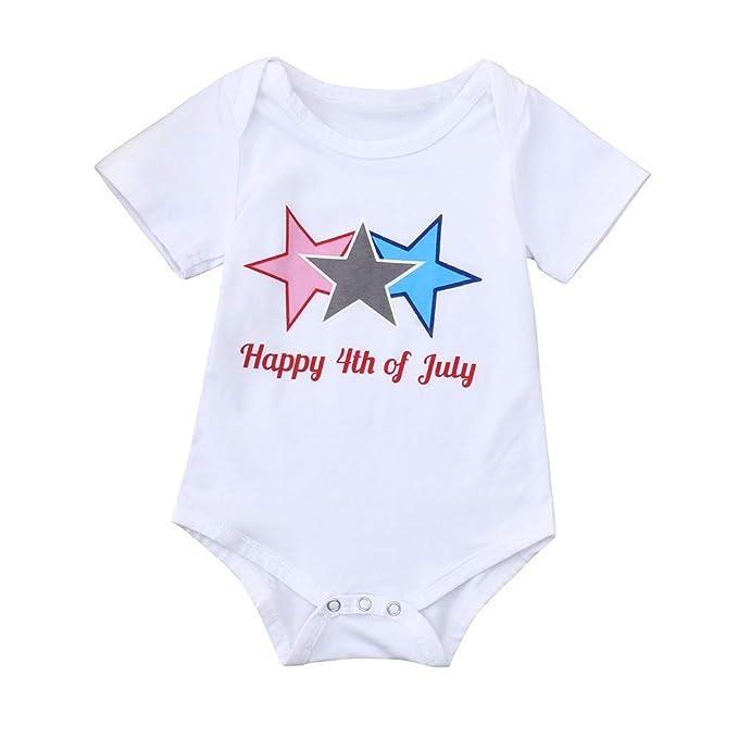 Amazon.com: KASSD 4 de julio bebé niños niña traje recién ...