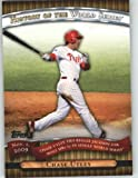 2010 Topps Series 2 Specialty Insert: History of the World Series Baseball Card # HWS24 Chase Utley ( Ties Reggie Jackson for most HRs -5 ) Philadelphia Phillies - MLB Trading Card in Screwdown Case