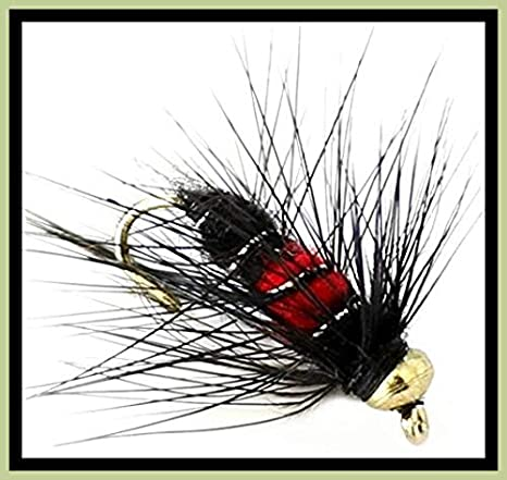 Red Head Black Bug Grayling /& Trout Fly.