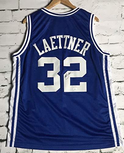 Christian Laettner Signed Autographed 'The Shot' Duke Blue Devils Basketball Jersey - JSA COA