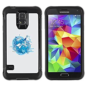 Suave TPU GEL Carcasa Funda Silicona Blando Estuche Caso de protección (para) Samsung Galaxy S5 V / CECELL Phone case / / Forrest Animals /