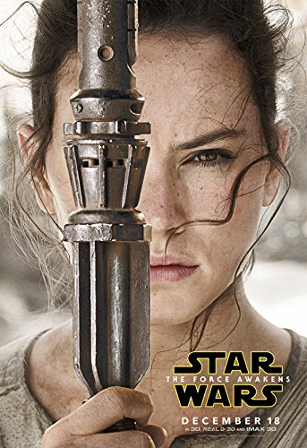 Póster de la película Star Wars Episodio VII Force Awakens Rey 22x34 inches
