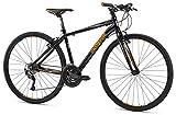 Mongoose Artery Expert Gravel Road Bike 700c Wheel, Black, 20″/Large