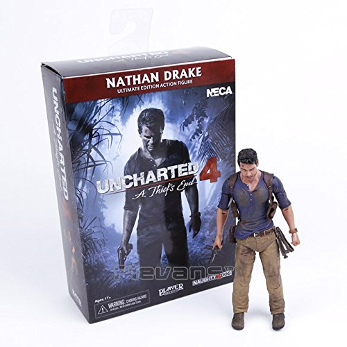 Toy, Play, Fun, NECA Uncharted 4 A thief's end NATHAN DRAKE Ultimate Edition PVC Action Figure Collectible Model Toy 18cm, Children, Kids, Game (Uncharted 4 Action Figure)