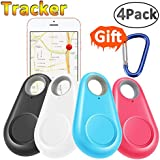 GBD Smart Finder Locator Pet Tracker Alarm for Key Wallet Car Kids Dog Cat Child Bag Phone Selfie Shutter Wireless Seeker Anti Lost Sensor Outdoor Travel Camping Birthday Gift (4 Pack)