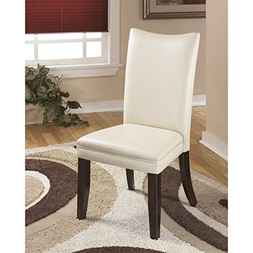 Ashley Furniture Signature Design - Charrell Dining Side Chair - Curved Back - Set of 2 - Ivory