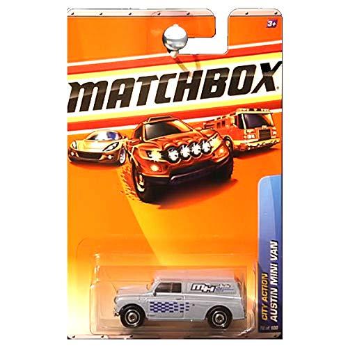 (Matchbox 2010 City Action Austin Mini Van Delivery Blue MH Austin Performance Parts)