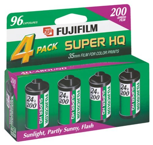 (Fujifilm Fujicolor 200 Speed 24 Exposure 35mm Film - 4 Pack (Discontinued by Manufacturer))