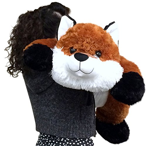 Amazon Com Huge Stuffed Fox 36 Inches Soft Big Plush Premium