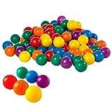 """Intex 2-1/2"""" Fun Ballz - 100 Multi-Colored Plastic Balls, for Ages 3+"""