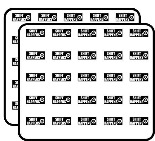 Shift Happens (Funny nascar car Racing) Sticker for Scrapbooking, Calendars, Arts, Kids DIY Crafts, Album, Bullet Journals