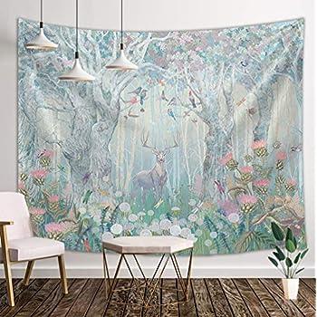 Amazon Com Dynh Deer Tapestry Wall Hanging Safari Decor