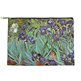 CafePress - Van Gogh Irises, Vintage Post Impress - Makeup Pouch