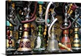 Kevin Oke Gallery-Wrapped Canvas entitled Spain, Andalusia, Granada, Moroccan hookahs for sale in a small shop