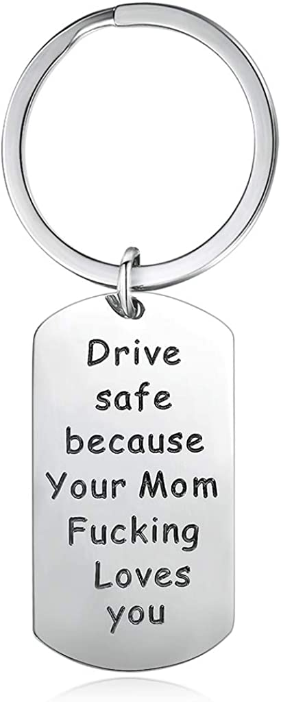 Inspirational Birthday Gifts From Mom for Son Daughter Drive Safe Keychains Anniversary Gifts
