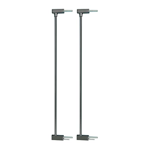 Qdos Auto-Close SafeGate Baby Gate Extensions – Meets Tougher European Standards – Professional Grade Safety – Each Extension Extends the Qdos SafeGate Pressure Gates by 2.75 Set of 2 Slate