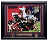 #8: Julian Edelman Signed Framed 16x20 New England Patriots Super Bowl LI Catch JSA
