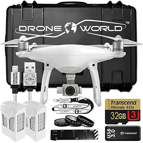 DJI-Phantom-4-Bundle-Upgrade-Kit-w-Hard-Travel-Case-Lens-Filters-2-Extra-batteries-2-total-Triple-Charger-32-GB-and-More